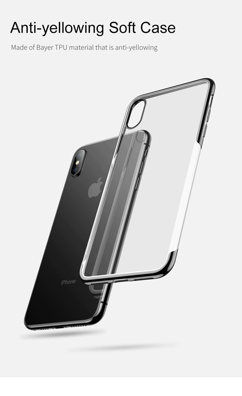 Luxury glossy transparent high definition case for iphone