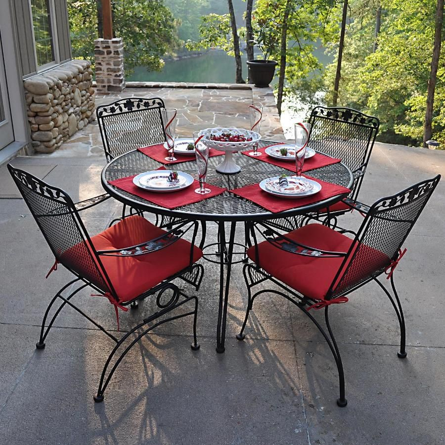 Wonderful 4 Piece Wrought Iron Patio Set   Patios Have Consistently Been Our  Favourite Place For Spending Leisure Hours, Be It Barbecu