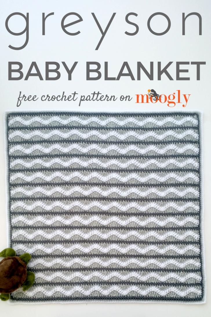Greyson Baby Blanket - Free #Crochet Pattern on | Crochet - Blankets ...