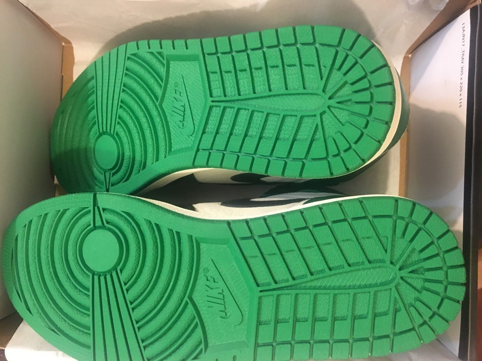 d79497488f2 Details about Nike Air Jordan 1 Retro High OG Pine Green Sail Black ...
