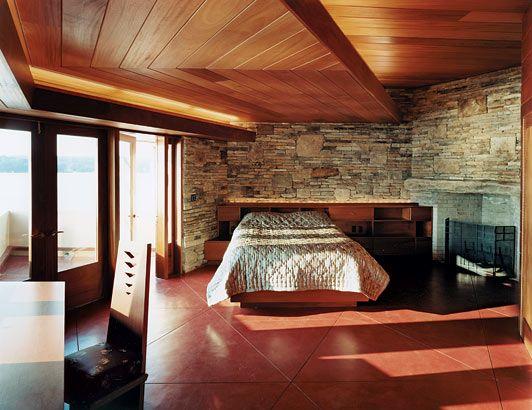 Frank Lloyd Wright Designed Bedroom I Loooove The Stone