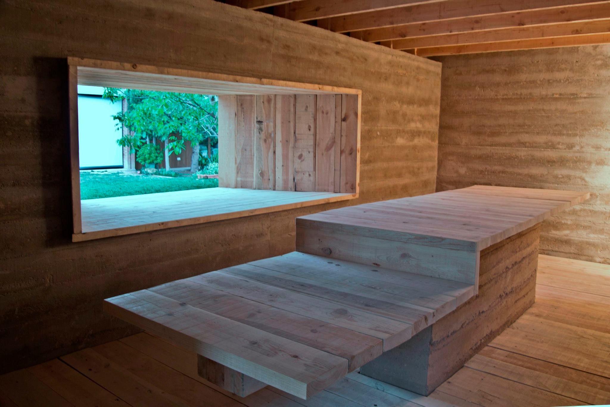 Fetdeterra Construcci N Sostenible Con Tierra Y Madera Cubierta  # Muebles De Madera Sostenible