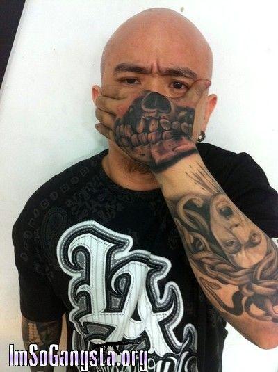 Gangster Clowns Tattoos: Pictures Gangster Clown Tattoos