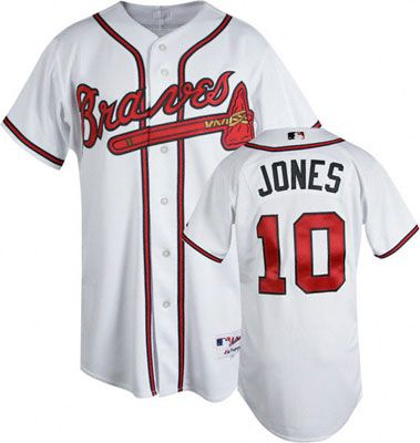 premium selection 9d296 5cc2b Chipper Jones Jersey $209.99 | Brad | Chipper jones, Atlanta ...