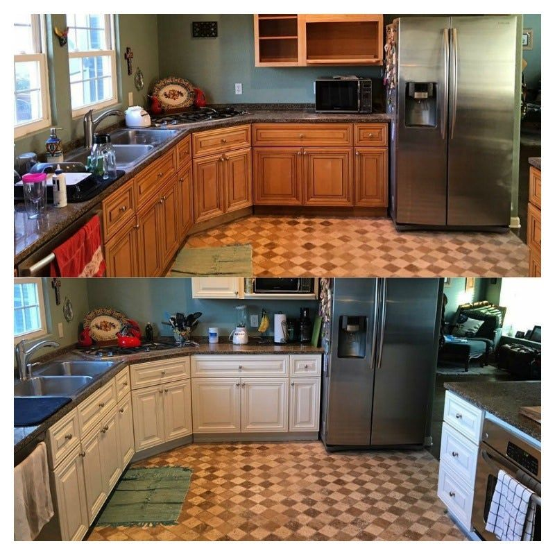 Best Homeowners Resurfaced Kitchen Cabinet For Less Than 200 640 x 480