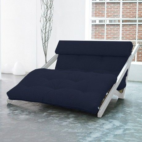 Futon Lounge Chair Wht Navy By Karup