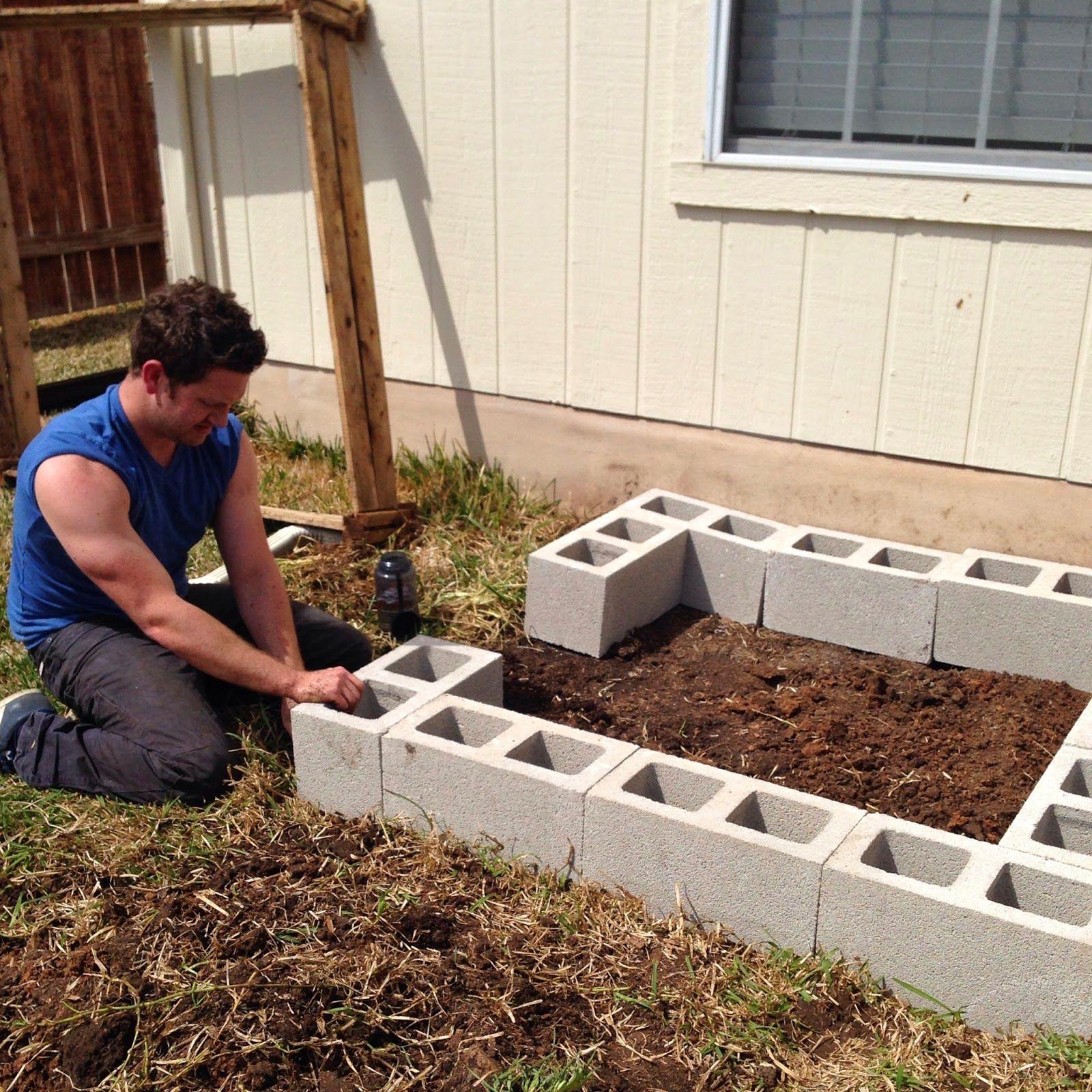 DIY Cinder Block Raised Garden Bed Raised garden beds