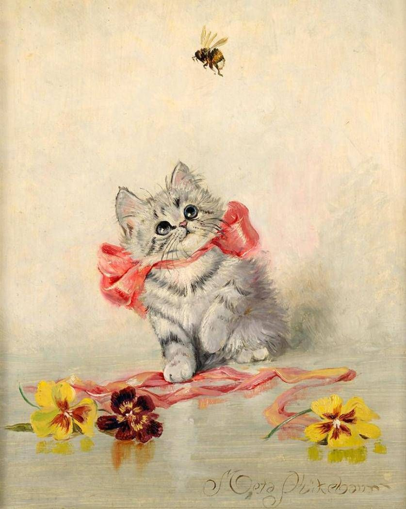 иллюстрации к открыткам котята