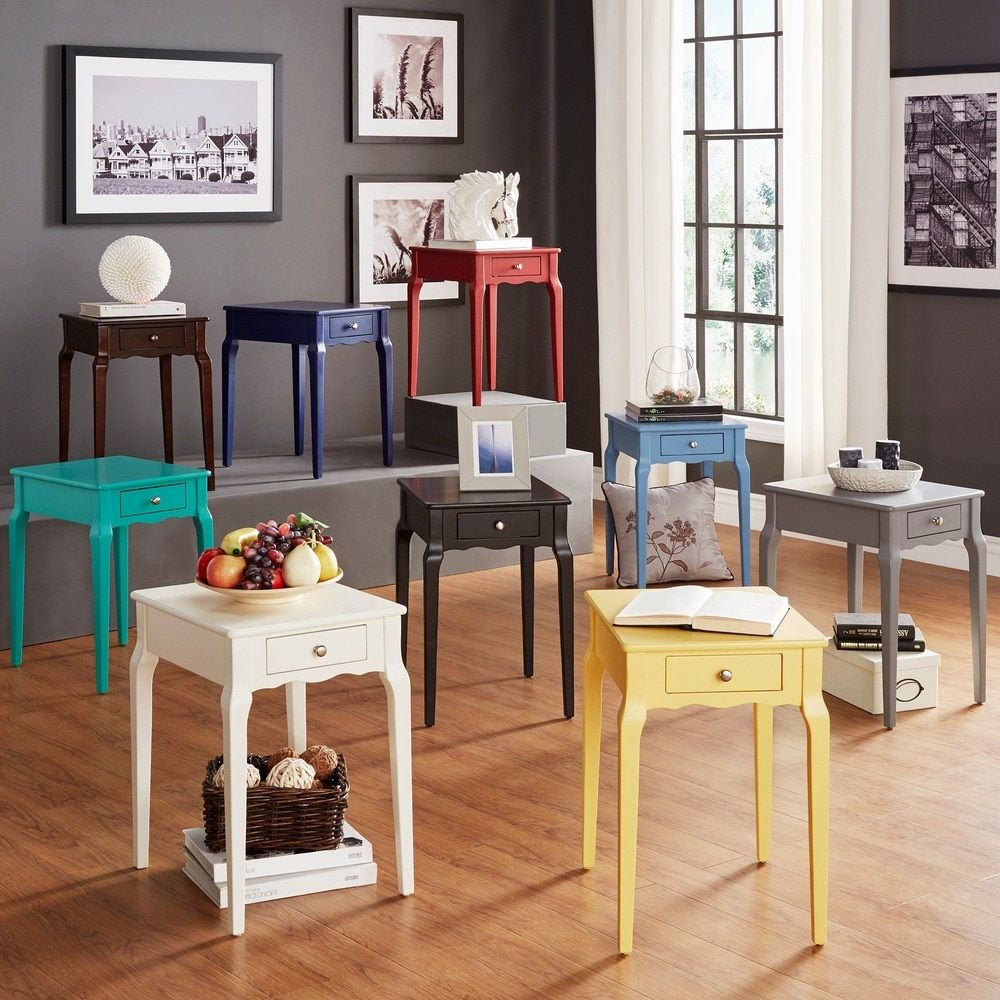 Bold Accent Single-drawer Side Table by I Love Living