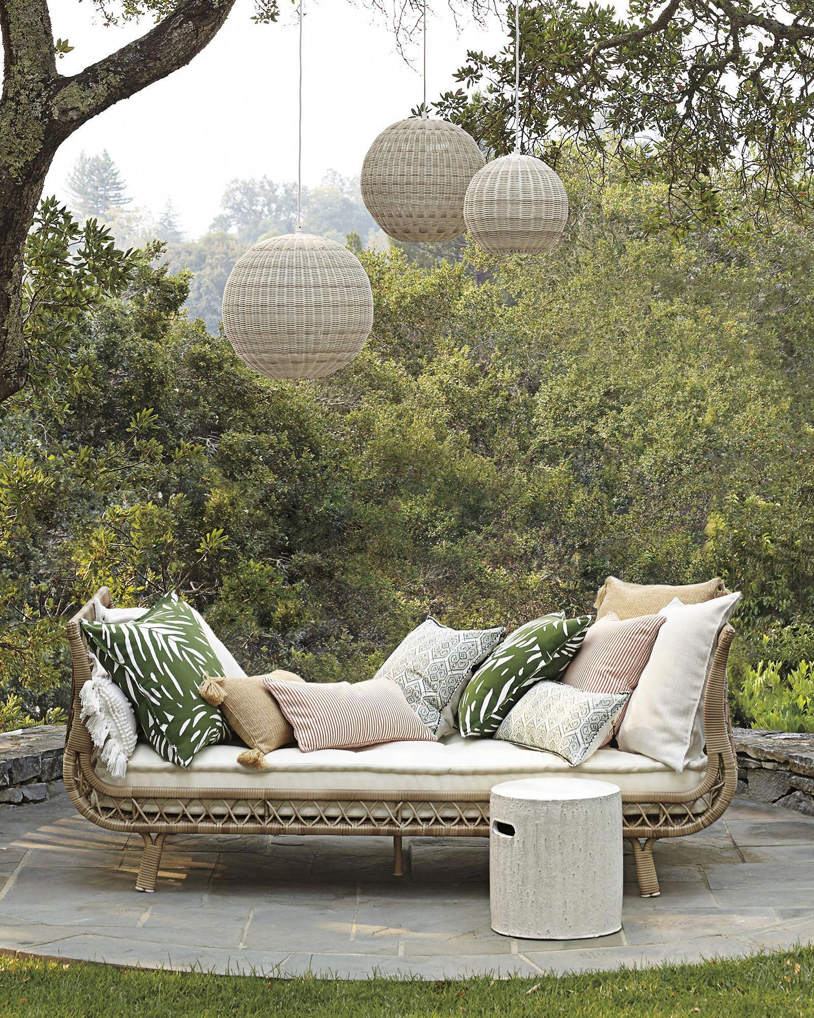 Pacifica Outdoor Pendant | Outdoor daybed, Outdoor rooms ...