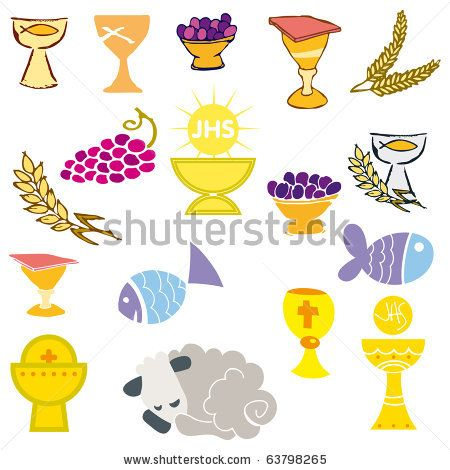 First Communion Banner Templates Set Of Illustration Of A