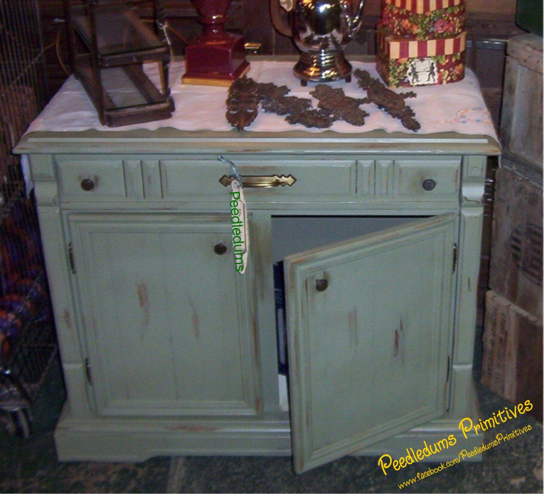 Repurposed console tv cabinet turned kitchen cabinet. | Peedledums ...