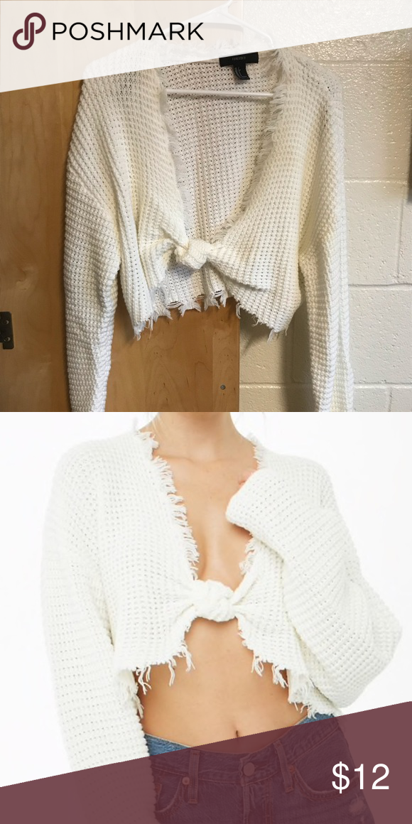 Forever 21 Frayed Sweater-Knit Crop Top A soft 59e4cb180