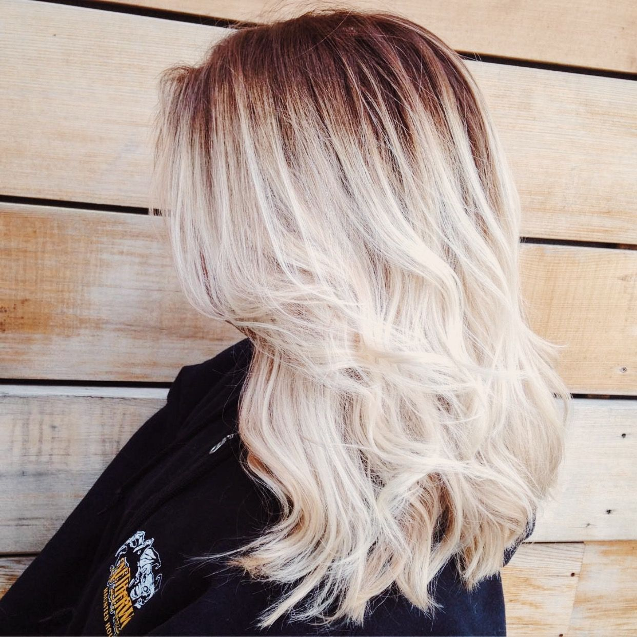 balayage medium length blonde hair pettigrewmaya beauty. Black Bedroom Furniture Sets. Home Design Ideas