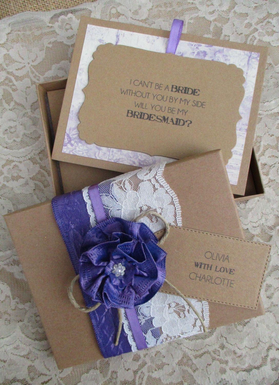 Bridesmaid invitation will you be my bridesmaid boxed