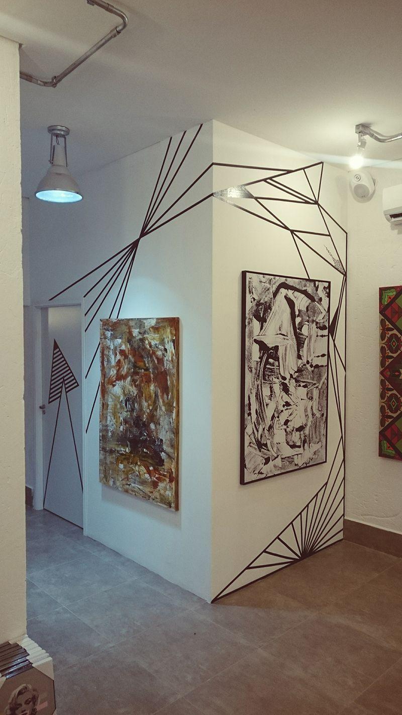 TAPE ARTE   Decor Descolada Com Fita Isolante | Wandgestaltung,  Wohnzimmer Wände Und Kreative Wandgestaltung