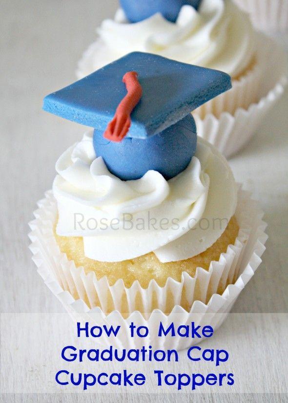 How To Make Graduation Cap Cupcake Toppers Tutorial Cake