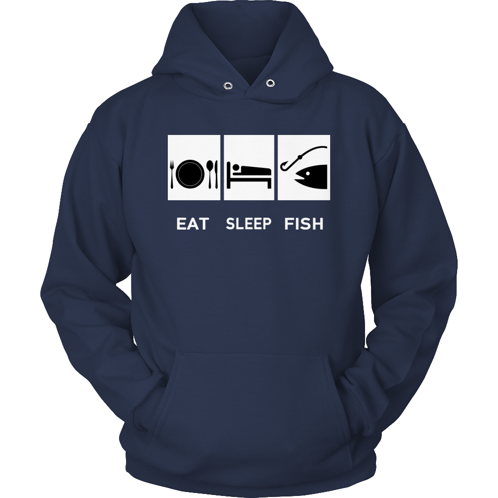 Fishing Eat Sleep Fish Hoodie