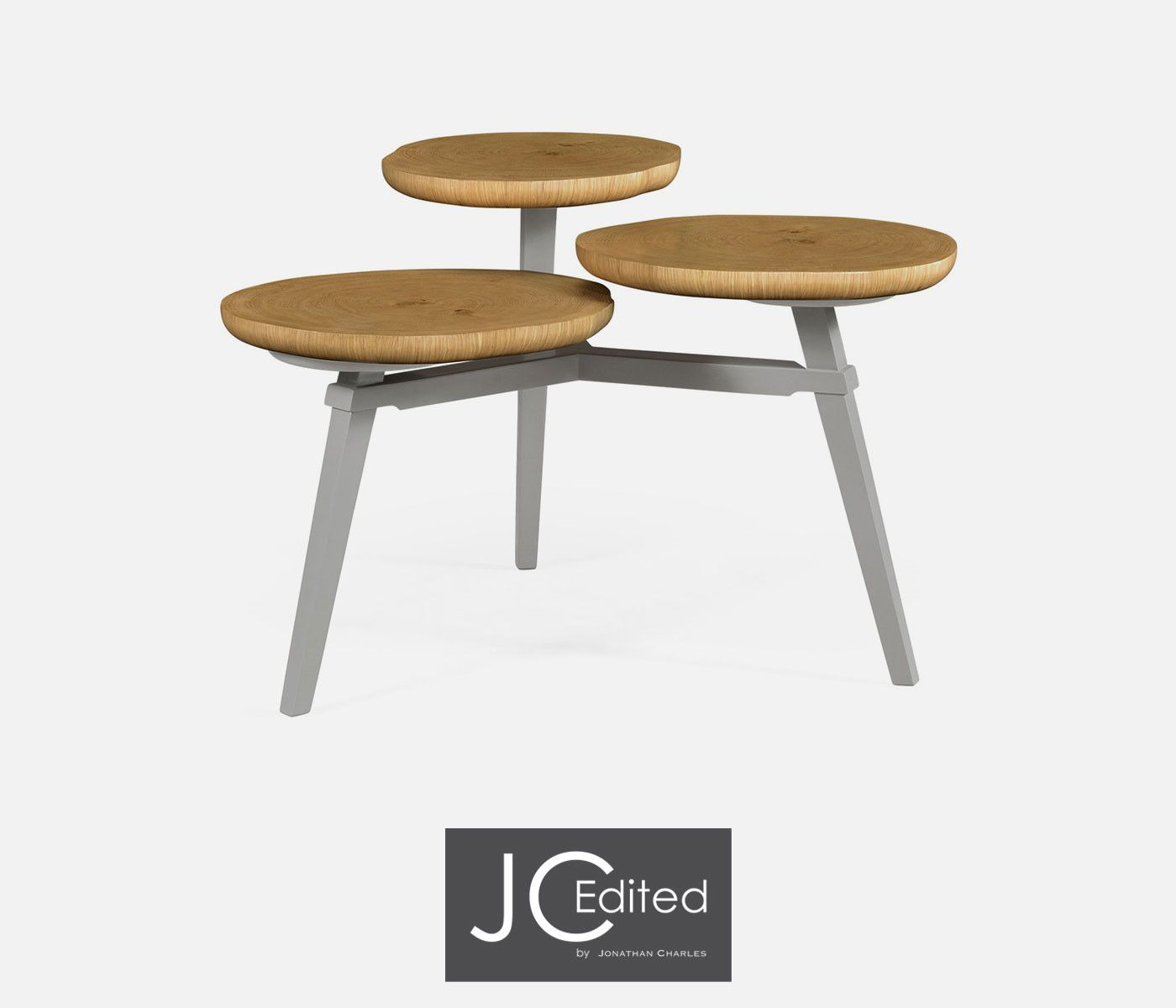 Jonathan charles architectural coffee table with three multi