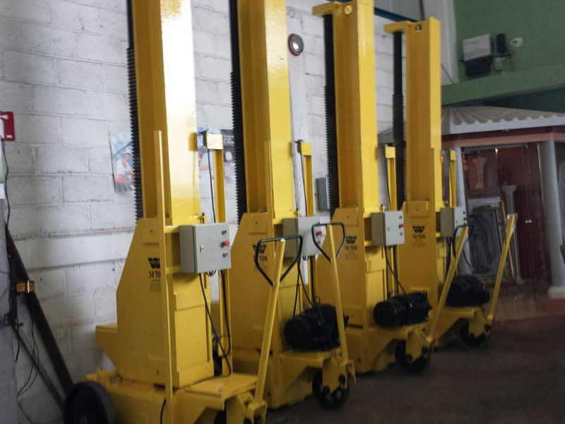 Reconditioned Whiting 50 Ton Portable Electric Jacks