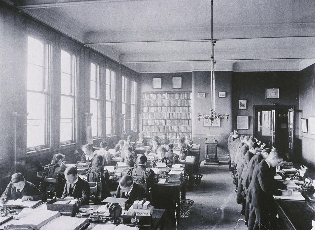 century office. Belfast Office Workers In The 19th Century