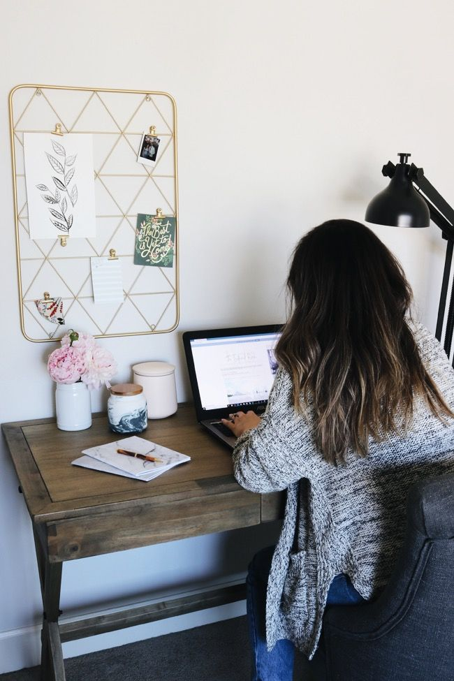 12 Inspirations For Home Improvement With Spanish Home Decorating Ideas: Small Office Furniture, Office Makeover, Room Inspiration