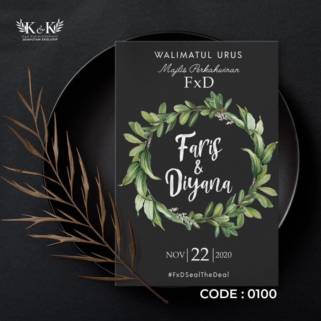 Kad Kahwin Floral Kad Jemputan Kahwin Floral Wedding Invitation In 2021 Floral Wedding Invitations Floral Wedding Wedding Invitations
