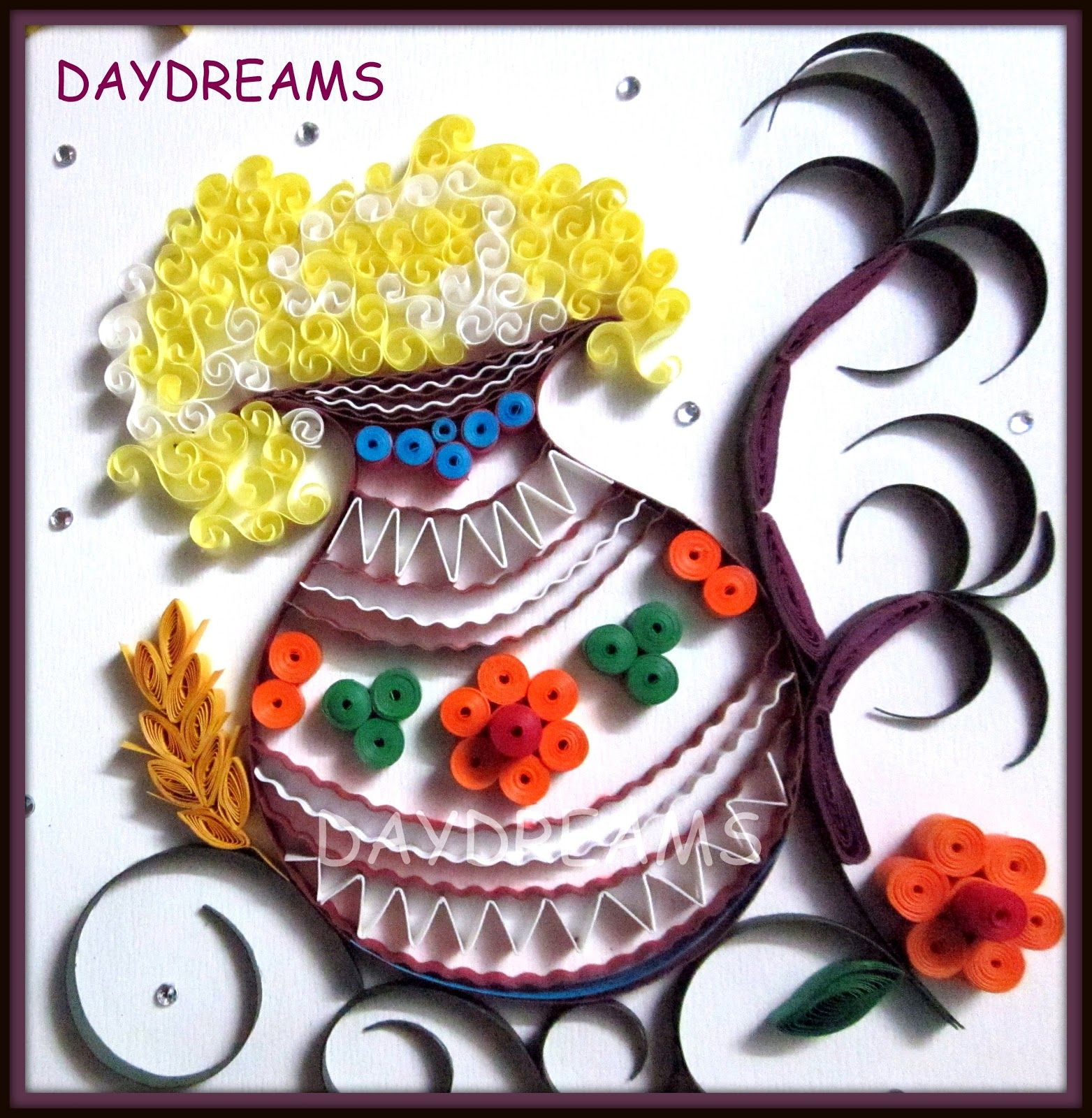 IMG_2906.JPG (1563×1600) Quilling, Rangoli with dots