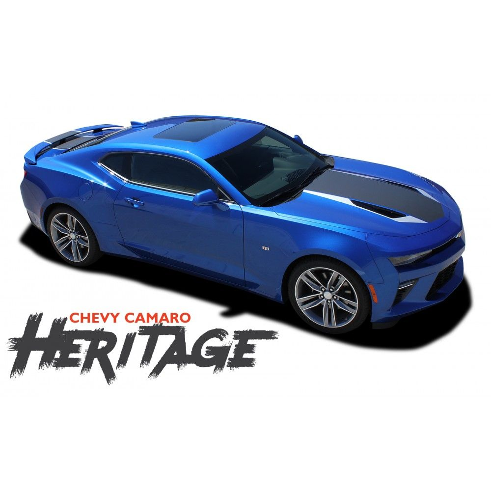 Chevy camaro heritage 50th anniversary indy 500 hood vinyl graphic racing stripes rally decals kit for