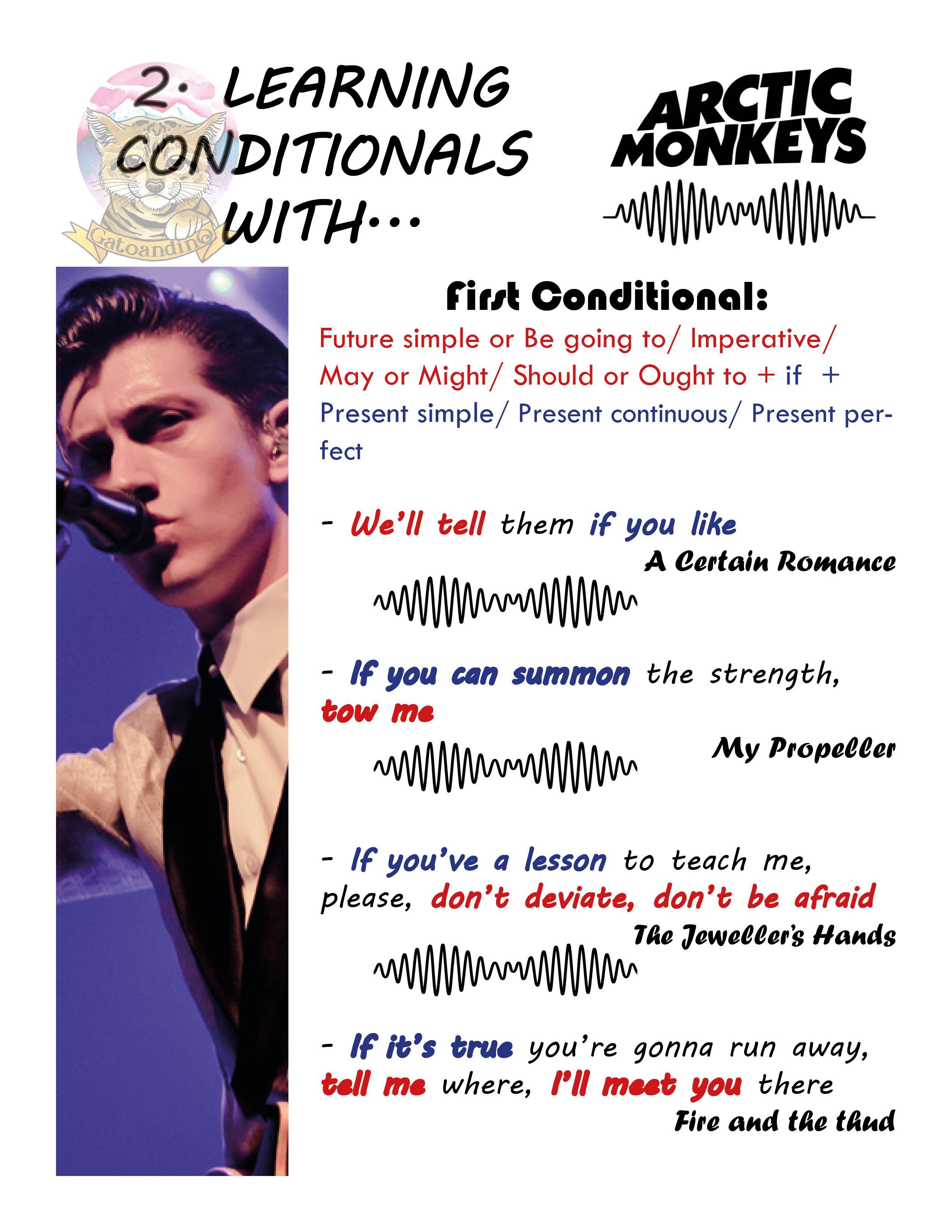 Conditionals Arctic Monkeys Traduccion Ingles Espanol Lenguas Extranjeras Clase De Espanol