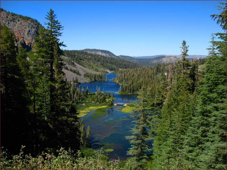 Twin Lakes in Mammoth, California. I really loved camping here! hahaha my  brother