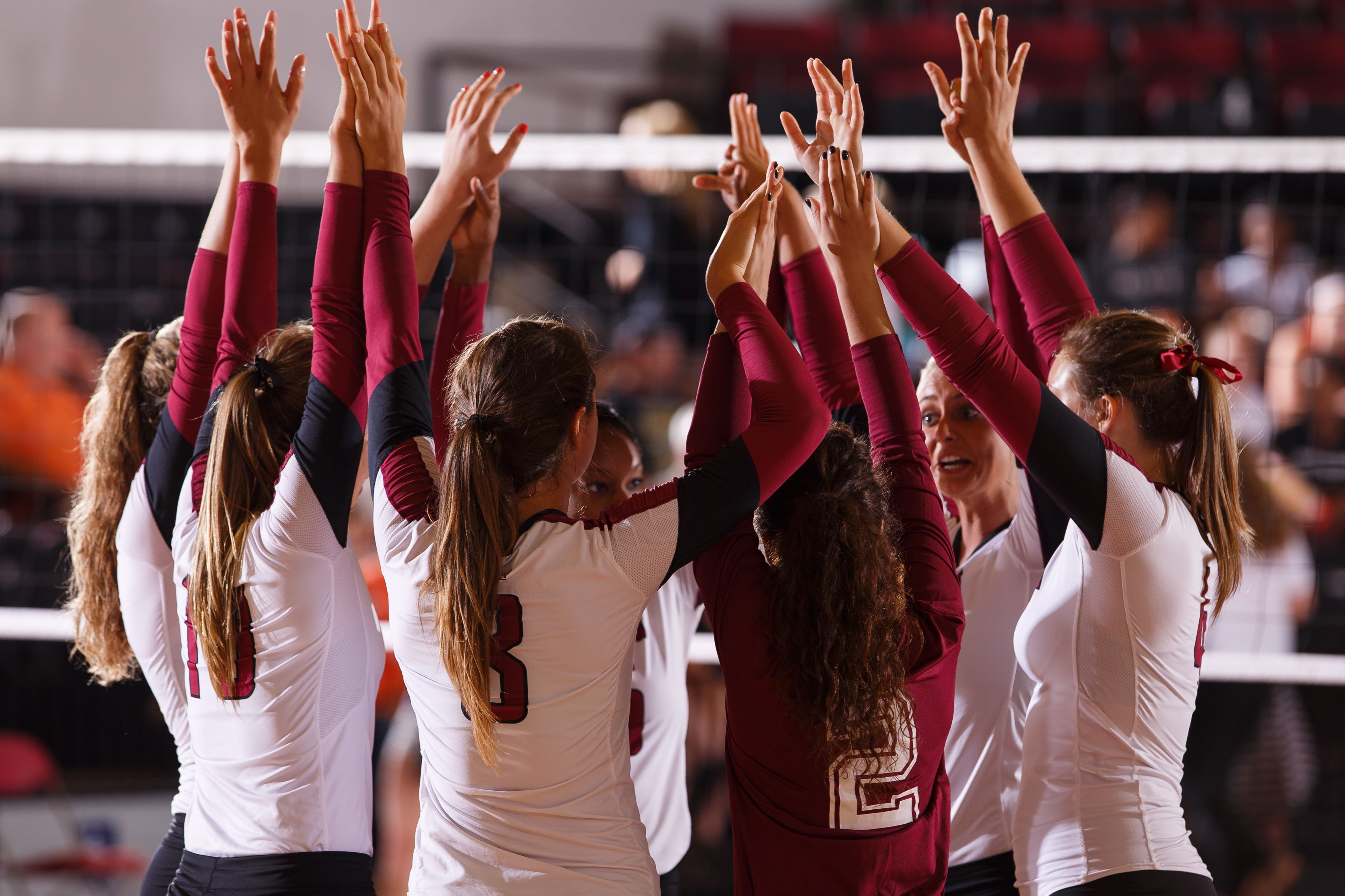 The Elon Women S Volleyball Team Celebrates Its Win Over Campbell Women Volleyball Sports Fashion Men Sports Fashion Editorial