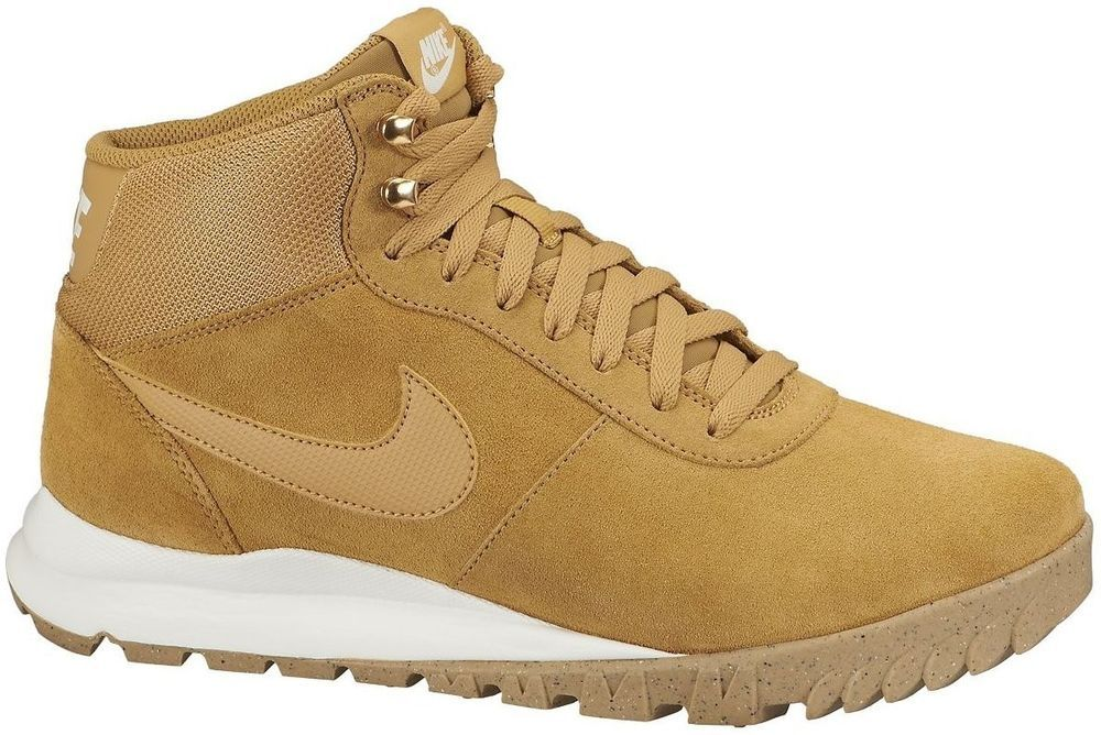 8587460e27f9d3 NEW NIKE HOODLAND SUEDE Boots MENS Hiking Winter WATERPROOF Wheat NIB  Nike   Boots