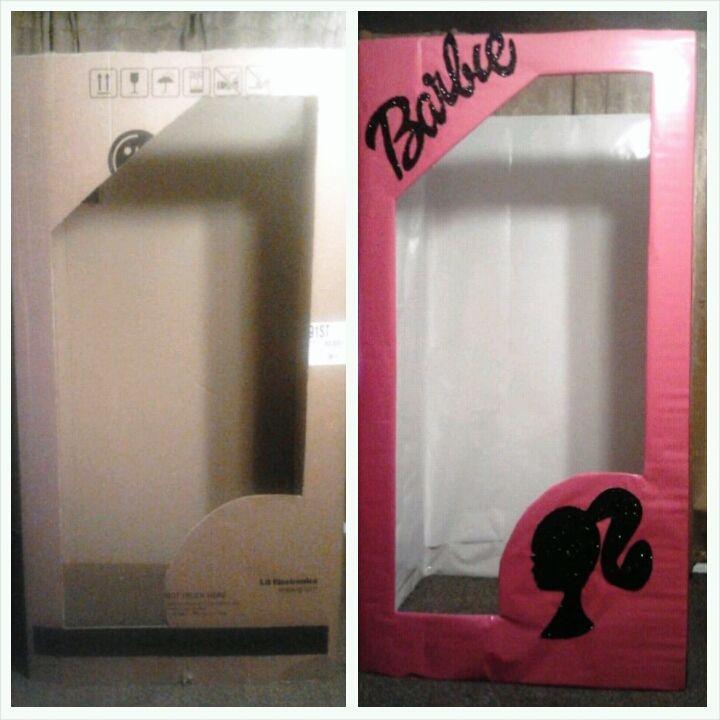 3736295a8dfa Free Refrigerator Box + Dollar Tree Wrapping Paper   Cool Life Size Barbie  Box