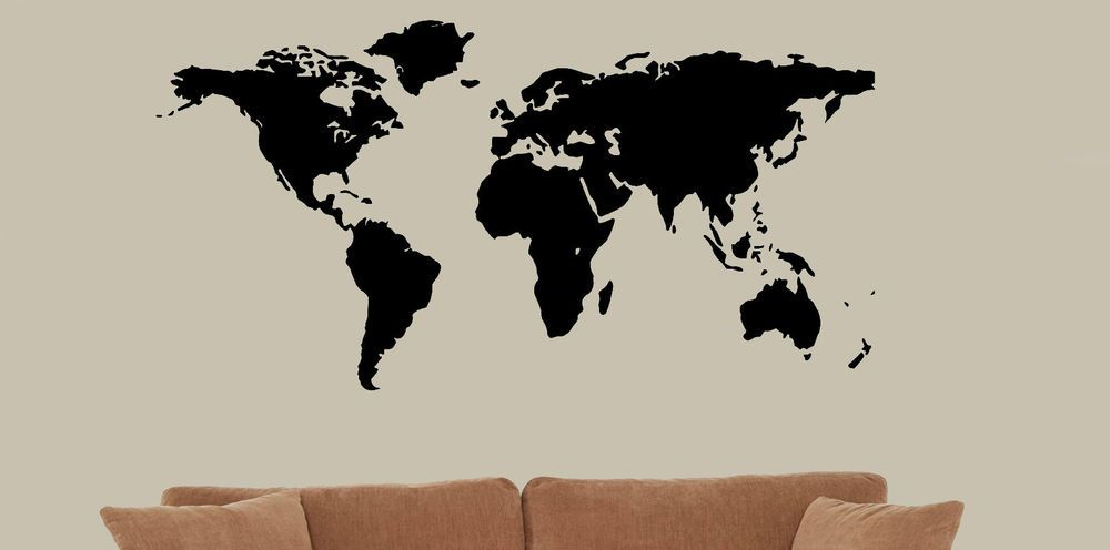 World map wall decal vinyl wall art globe countries continents earth world map wall decal vinyl wall art globe countries continents earth decal large gumiabroncs Choice Image