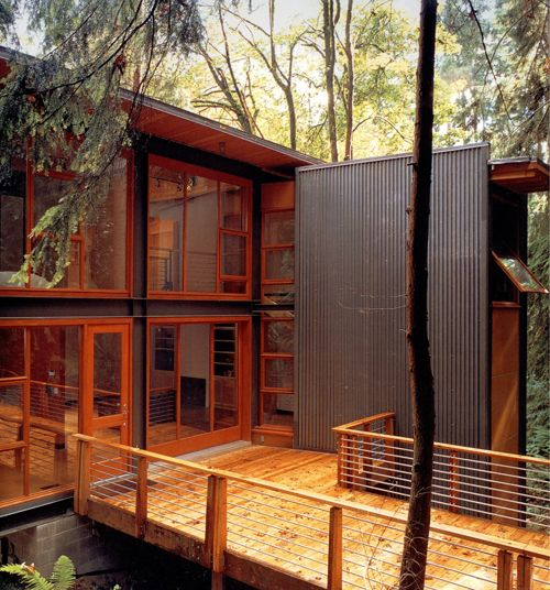 Pacific northwest design woods modern and spaces for Northwest contemporary homes