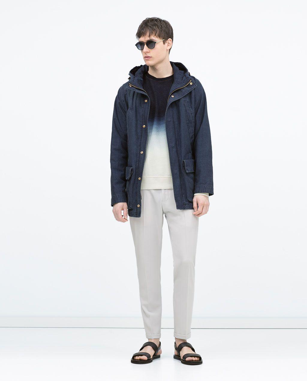 Image 1 of LONG DENIM PARKA from Zara
