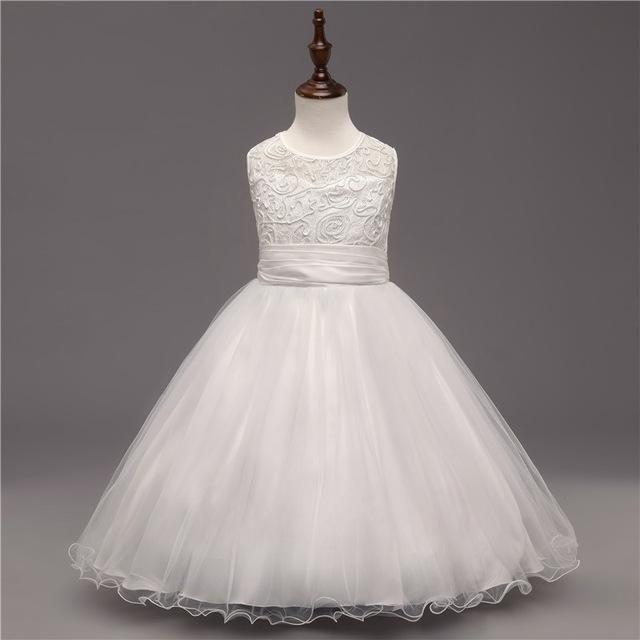Baby Girl Lace Graduation Gown Teenage Girl Wedding Bridal Dress ...