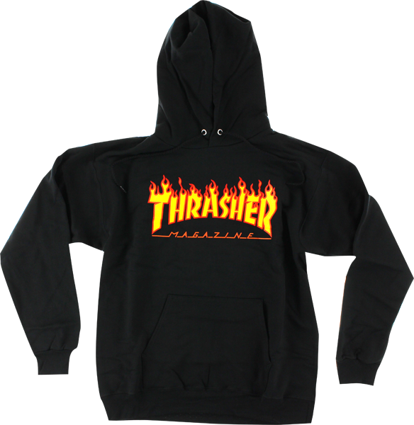 Thrasher Magazine Flame Logo Pullover Sweatshirt (Available