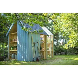 Abri de jardin serre vertigo bois brut botanic cabane - Verriere de jardin ...