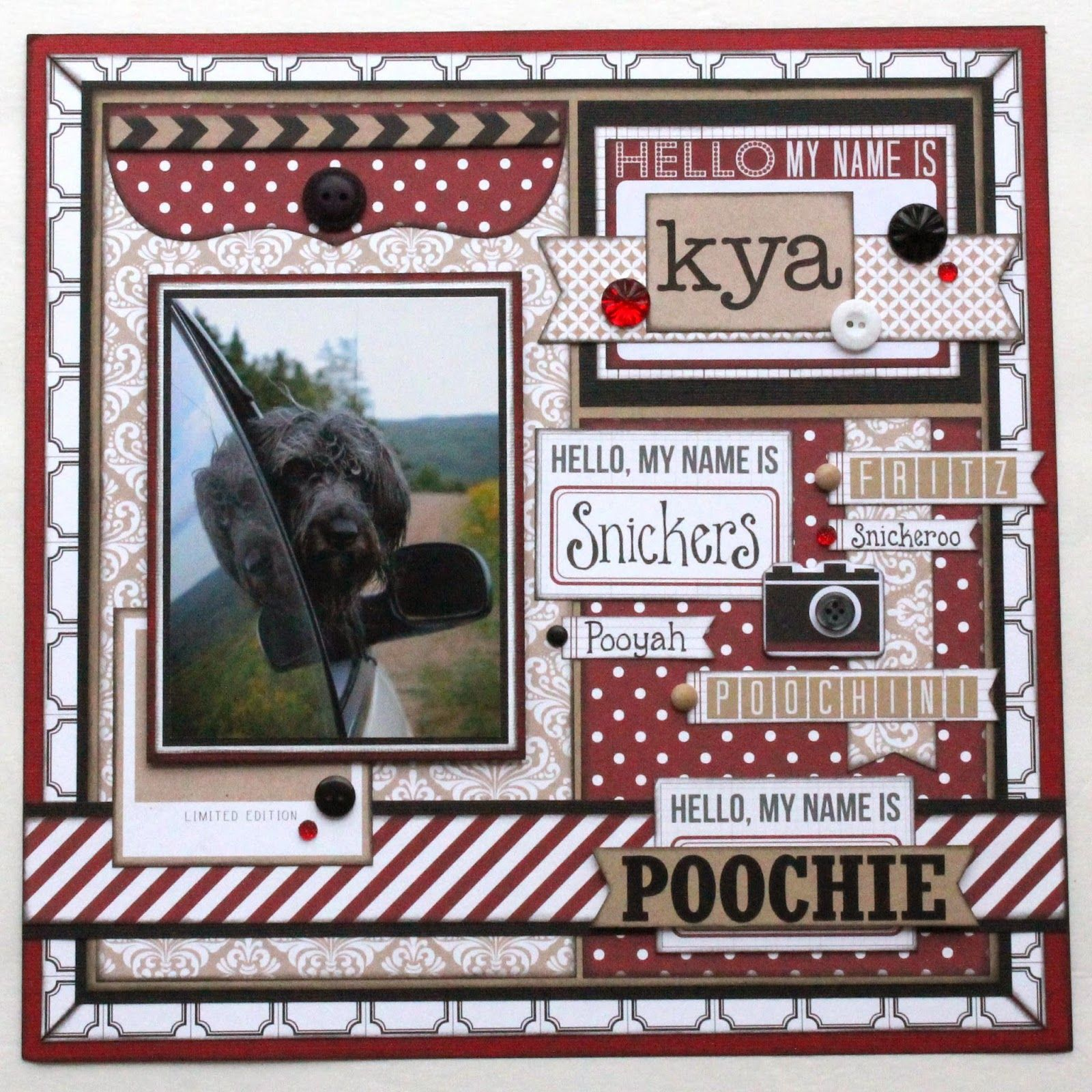 Scrapbook ideas names - Scrapbook Layout Teresa Collins Hello My Name Is Papercrafting