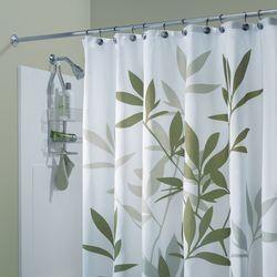 Interdesign Leaf Print Polyester Shower Curtain Wayfair