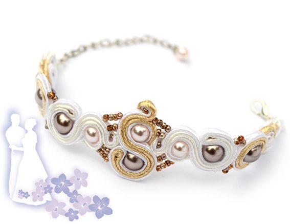 Sutasz-Anka: Wedding Veil - bracelet http://www.soutage.com/2012/06/wedding-veil-bransoletka.html
