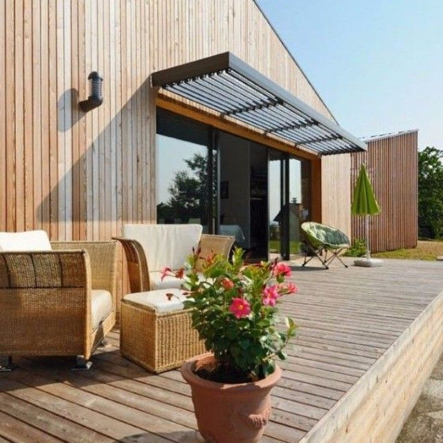 brise soleil sur terrasse en bois par c t sud soleil summer terrasse wood shop. Black Bedroom Furniture Sets. Home Design Ideas