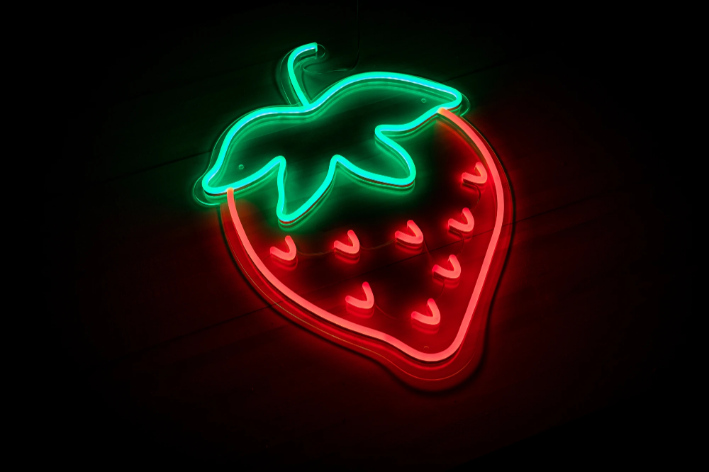 Strawberry LED Sign in 2020 Neon signs, Led signs, Led