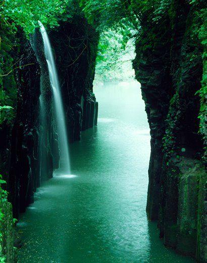 Beautiful Peaceful Waterfall Waterfall Scenery Beautiful Places