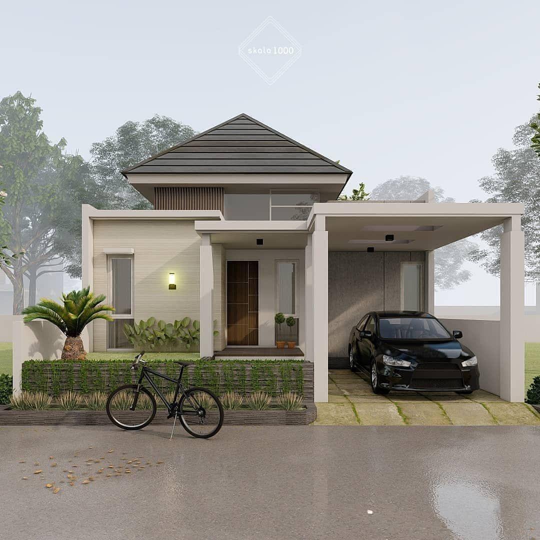 Desain Eksterior Rumah Modern Cek Bahan Bangunan