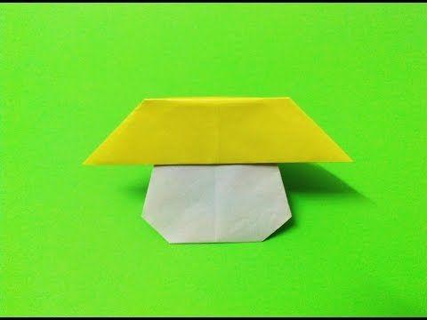 How To Make A Paper Mushroom Origami Paper Folding Tutorials