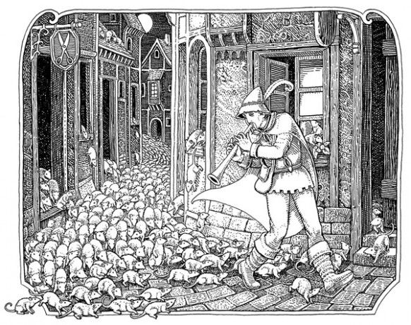 pied piper of hamelin colouring book - Google Search | ILLUSION ...