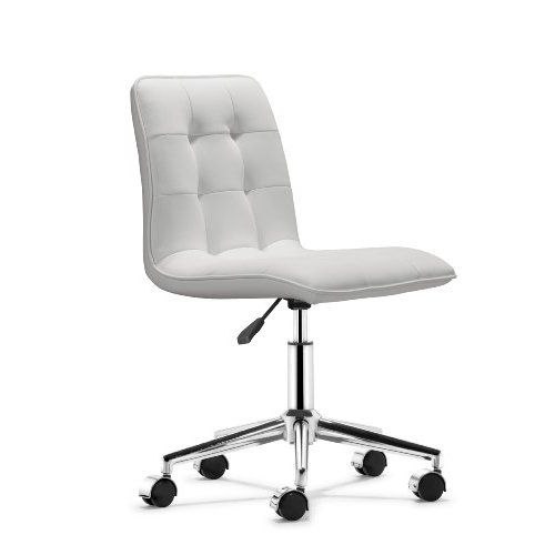Amazon Com Scout Office Chair White Home Kitchen Black